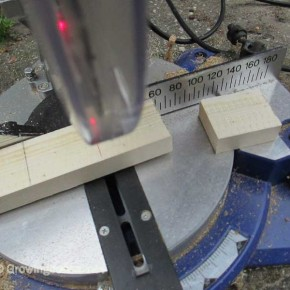 Mitre saw for cutting.